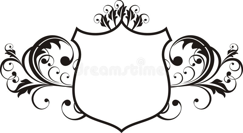 Frame da heráldica ilustração royalty free
