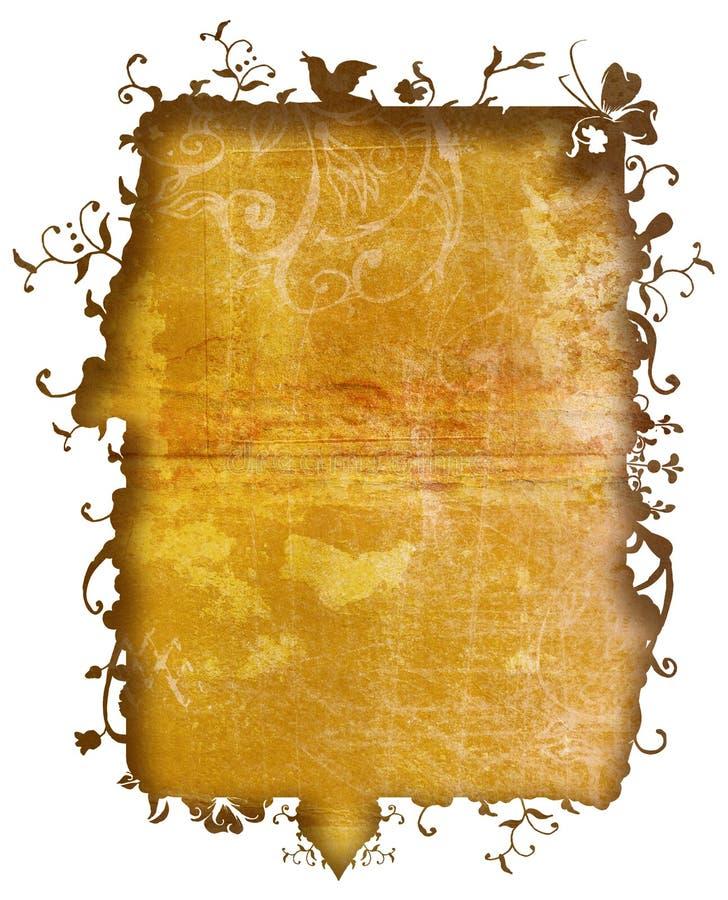 Frame da natureza de Grunge ilustração do vetor