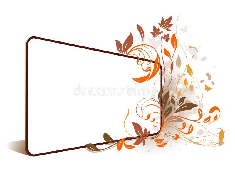 Frame da perspectiva da flor ilustração do vetor