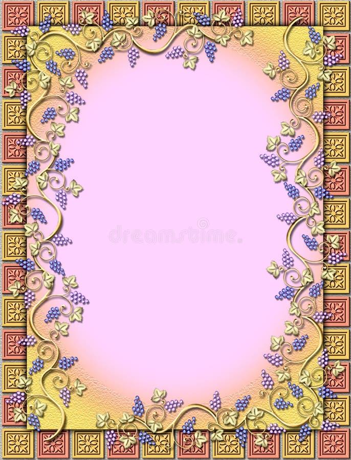 Download Frame Da Vinha & Da Telha Ilustração Stock - Ilustração de floral, alimento: 539197