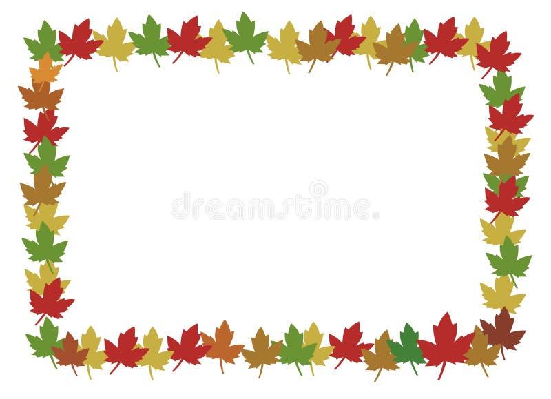Frame das folhas ilustração stock