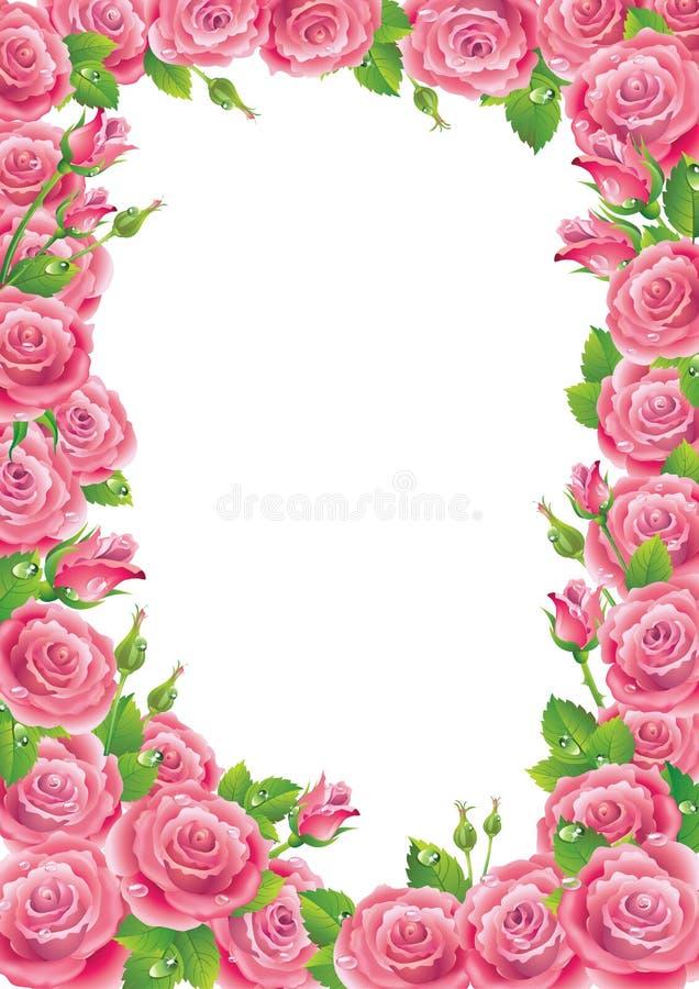 Frame das rosas ilustração do vetor