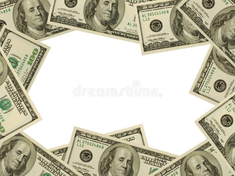 Frame dat van geld wordt gemaakt stock afbeelding