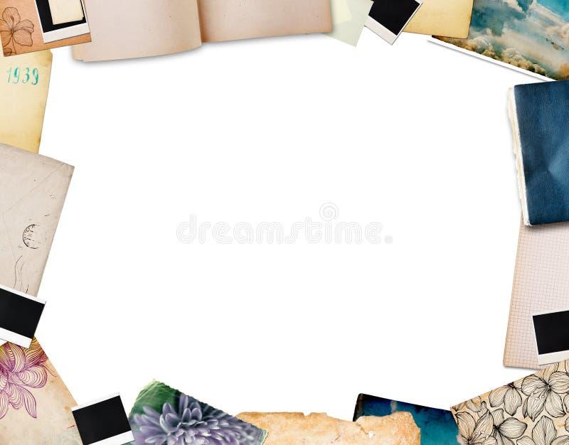 Frame dat van oud document wordt gemaakt stock fotografie