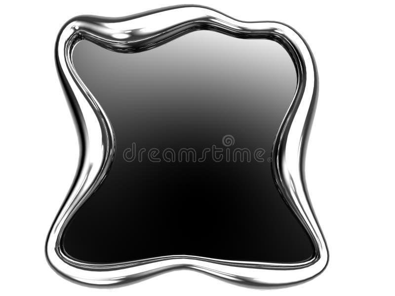 Frame de aço escovado ilustração royalty free