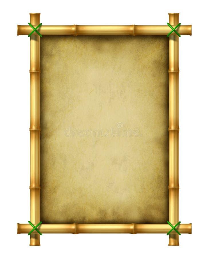 Frame de bambu ilustração royalty free