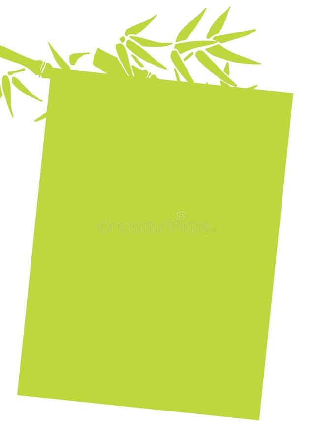 Frame de bambu ilustração stock