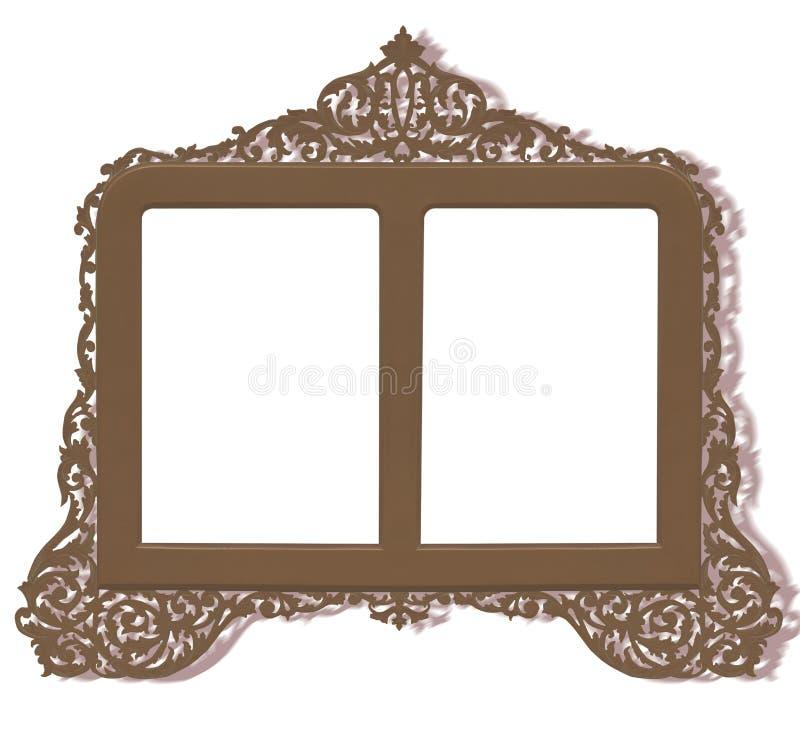Frame de bronze antigo do vintage ilustração stock