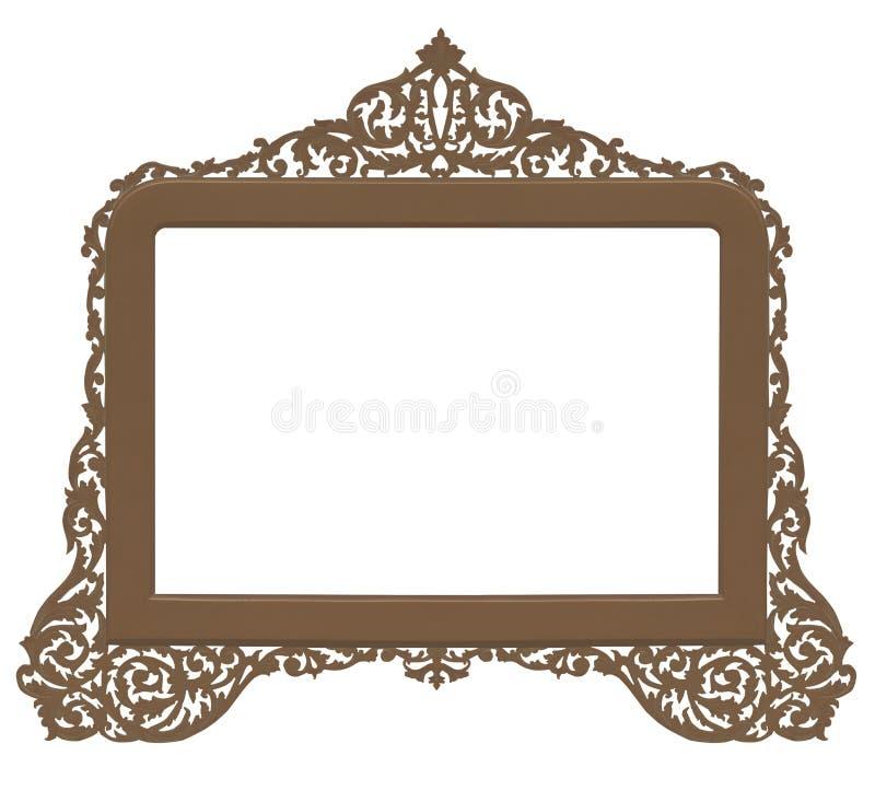 Frame de bronze antigo do vintage ilustração do vetor