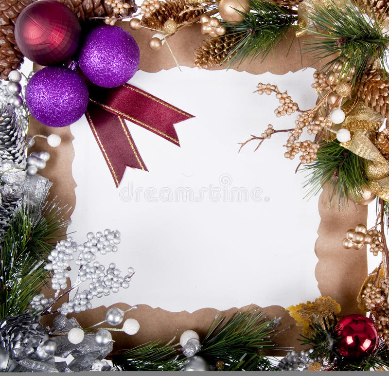 Frame de cartão do Natal foto de stock
