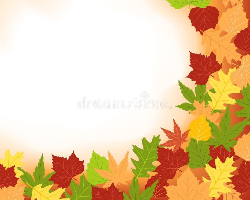 Frame de Colorfull das folhas da queda ilustração stock