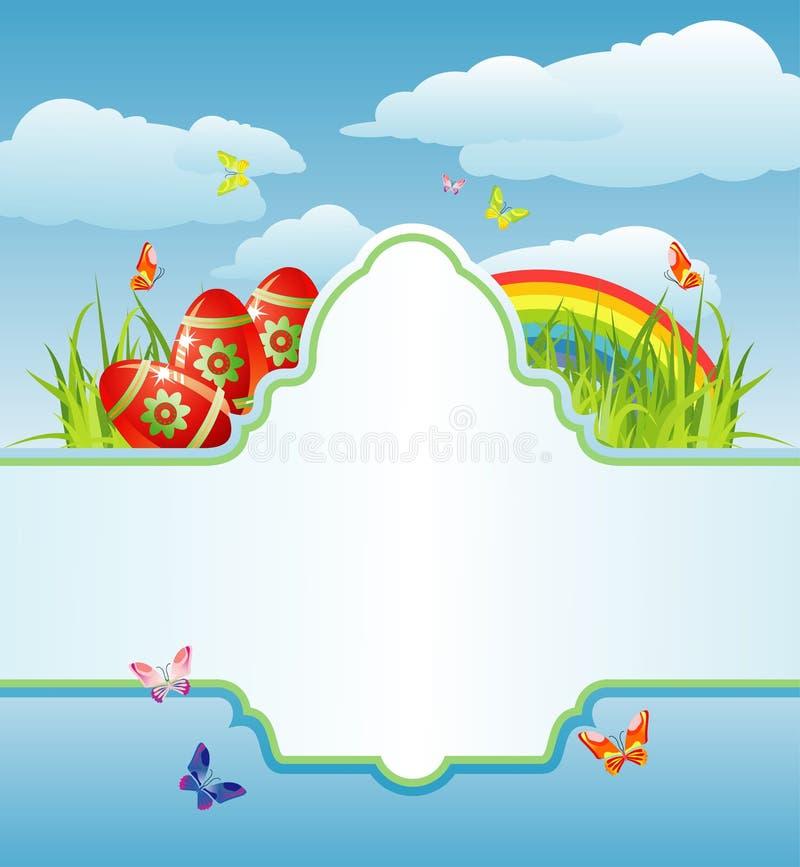 Frame de Easter para seus texto/cmyk/vetor ilustração royalty free
