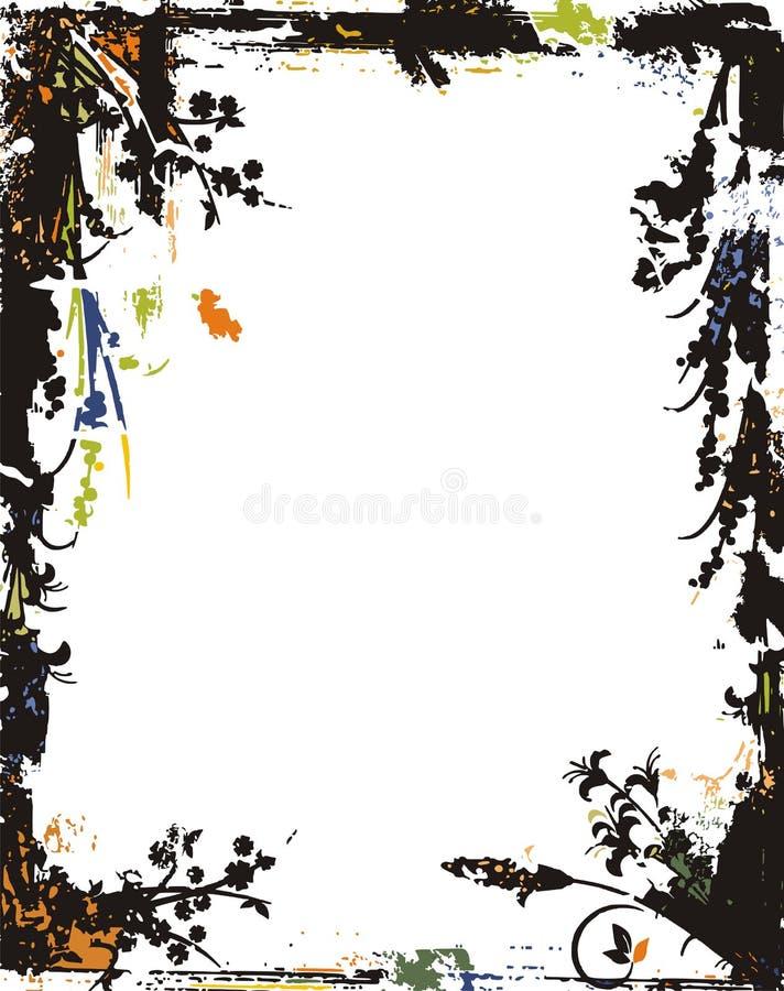 Frame de Grunge e série da beira ilustração stock