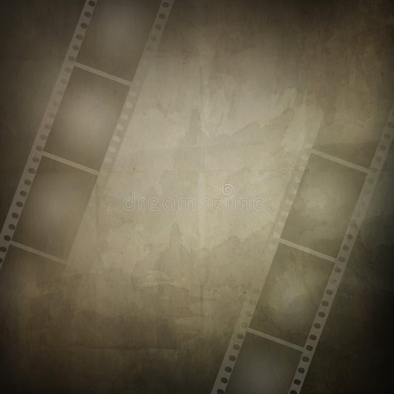 Frame de Grunge feito da tira da película da foto ilustração stock