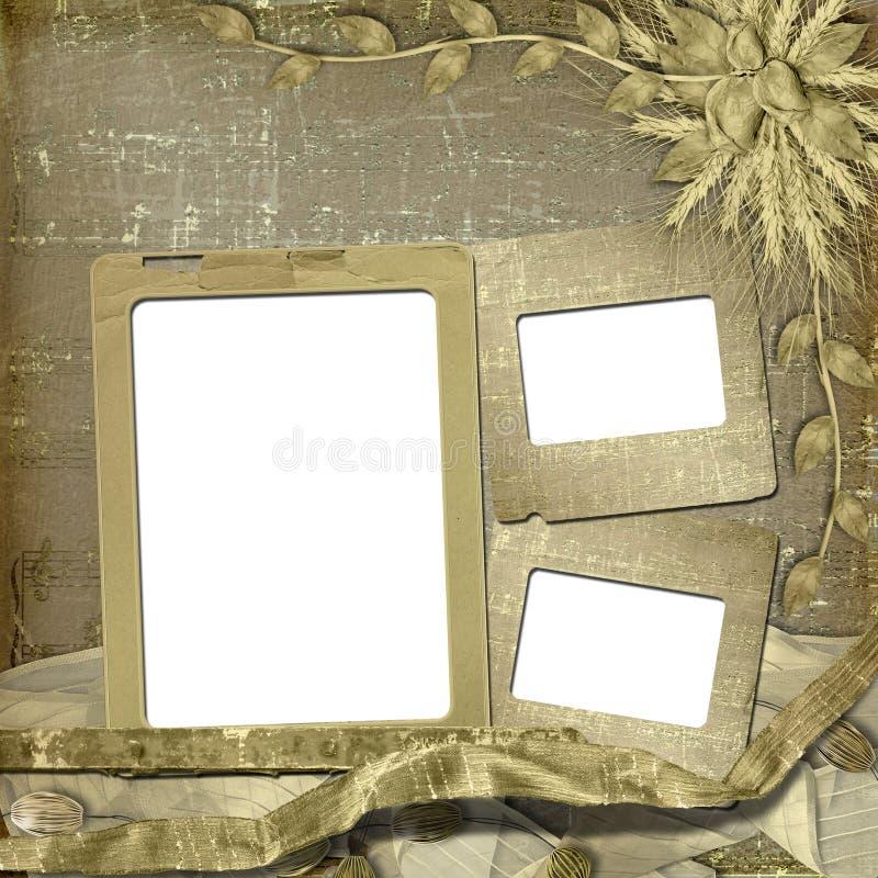 Frame de Grunge no estilo scrapbooking imagens de stock