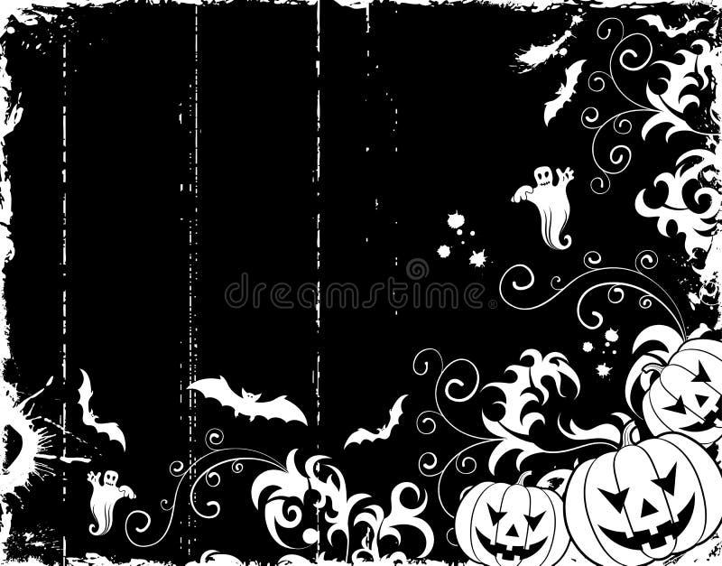 Frame de Halloween ilustração stock