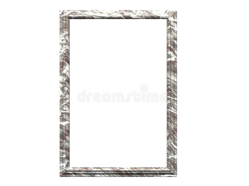 Frame de mármore branco ilustração do vetor