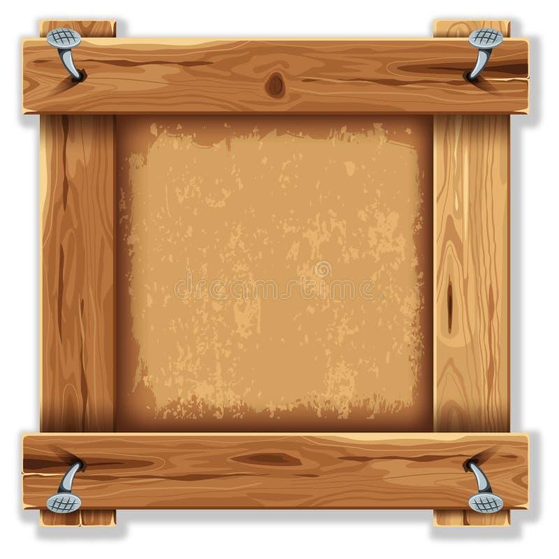 Frame de madeira ilustração stock