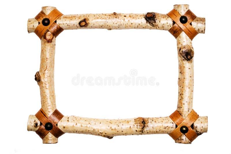 Frame de madeira branco rústico