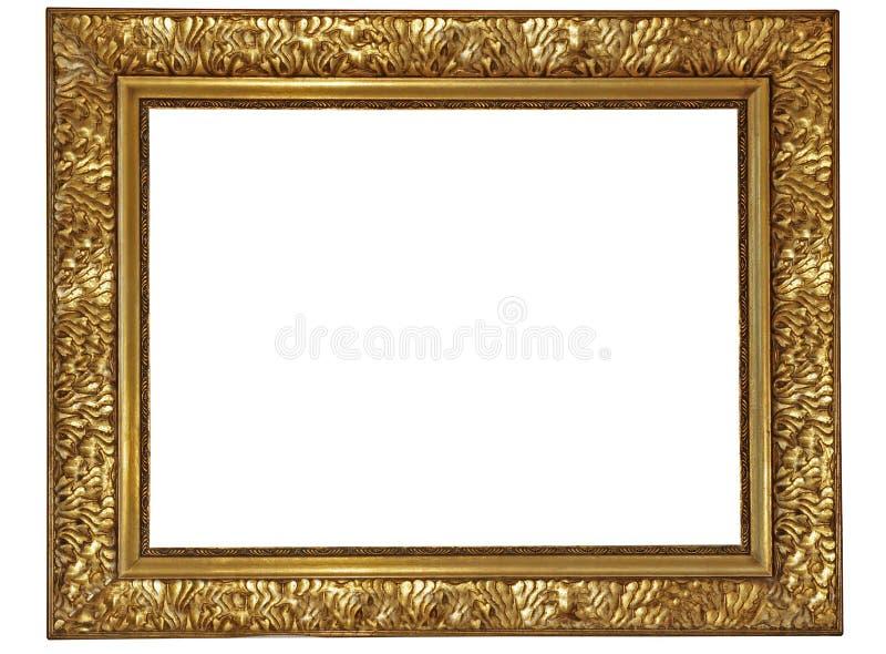 Frame de madeira chapeado ouro imagem de stock royalty free
