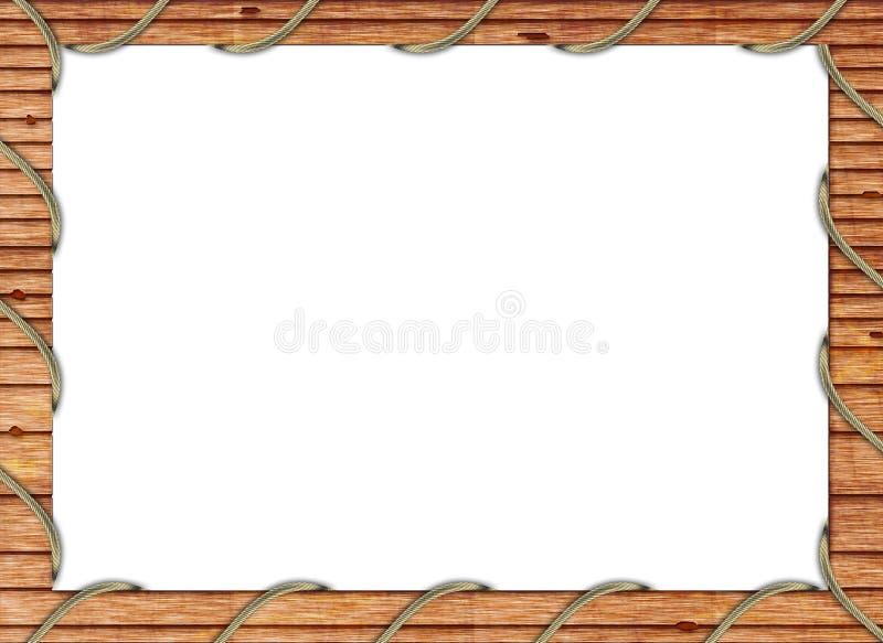 Frame de madeira da foto fotos de stock royalty free