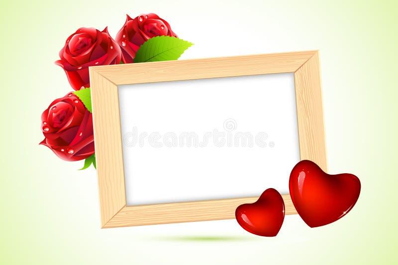 Frame de madeira da foto ilustração stock