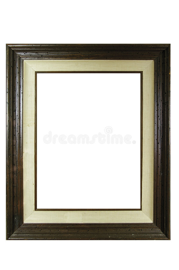 Frame de madeira da foto do grunge do vintage imagem de stock