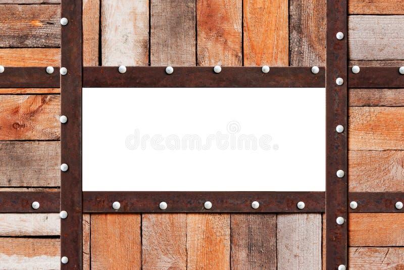 Frame de madeira do metal imagens de stock royalty free
