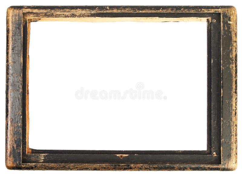 Frame de madeira do vintage foto de stock