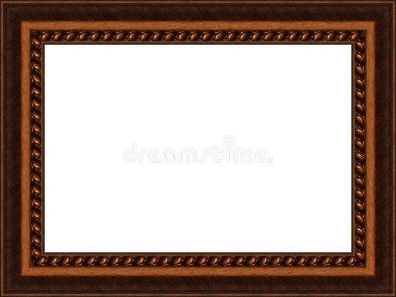 Frame de madeira velho fotos de stock royalty free