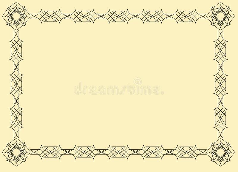 Frame de oriental do vetor ilustração stock