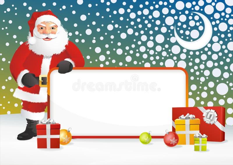Frame de Papai Noel ilustração do vetor