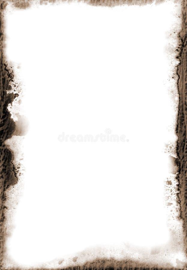 Frame de papel de Grunge ilustração do vetor