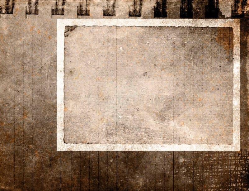 Frame de papel do vintage ilustração do vetor