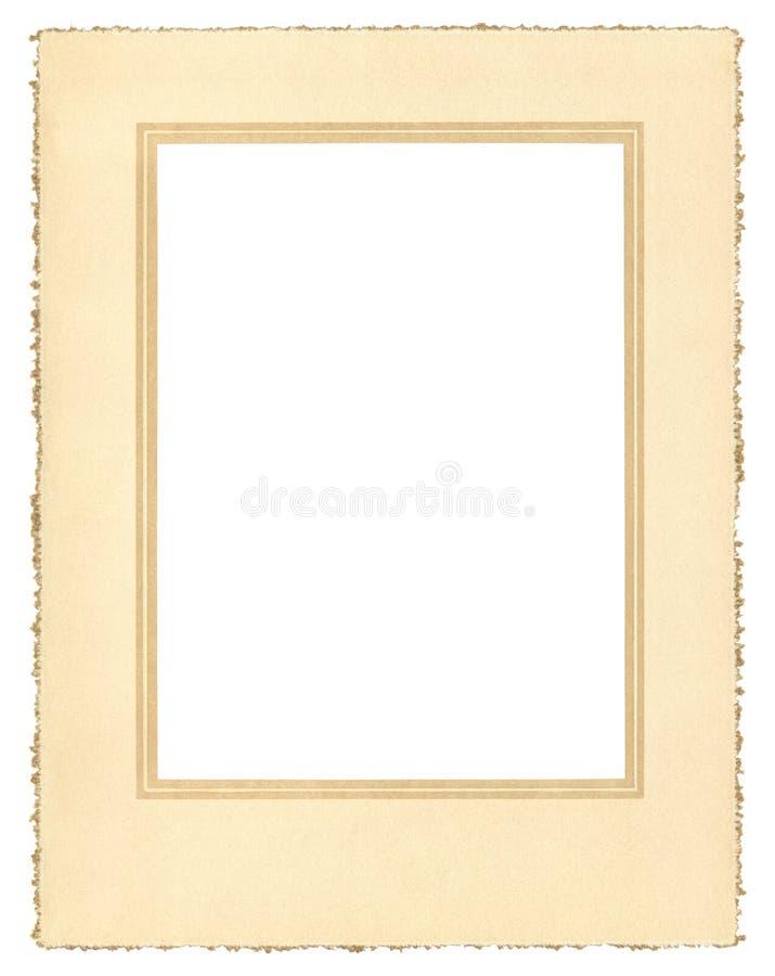 Frame de papel do vintage imagens de stock