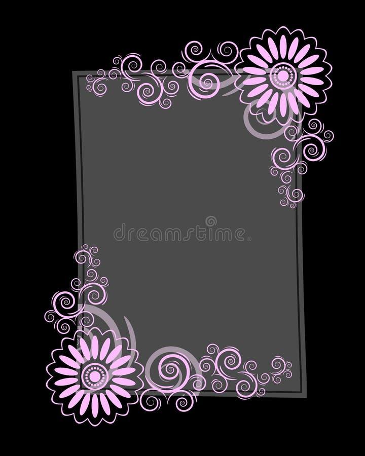 Frame de papel preto da letra ilustração royalty free