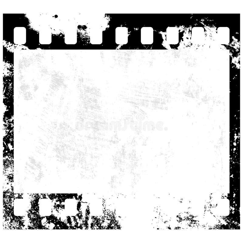Frame de película de Grunge ilustração do vetor