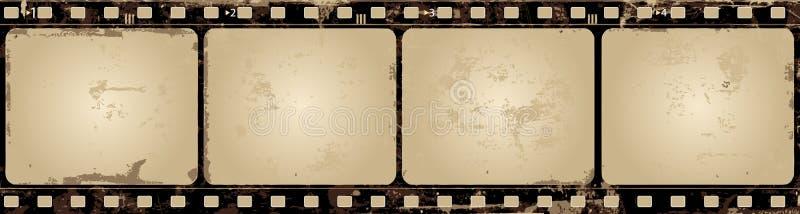 Frame de película do vetor de Grunge ilustração royalty free