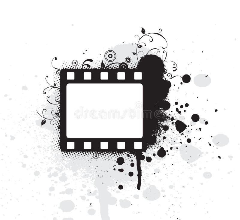 Frame de película Editable do grunge do vetor ilustração do vetor