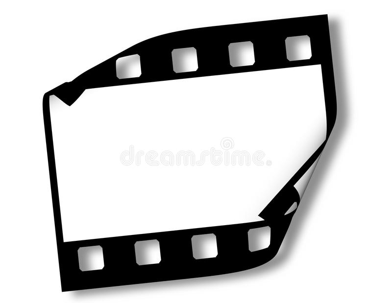 Frame de película em branco ilustração do vetor