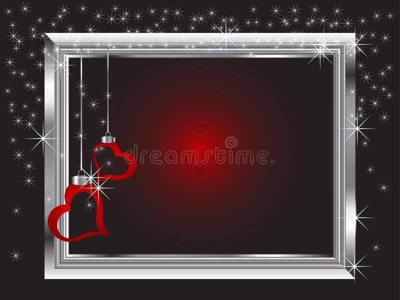 Frame de prata ilustração do vetor