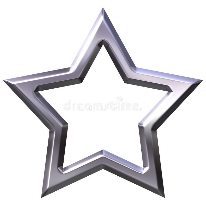 frame de prata da estrela 3D ilustração royalty free
