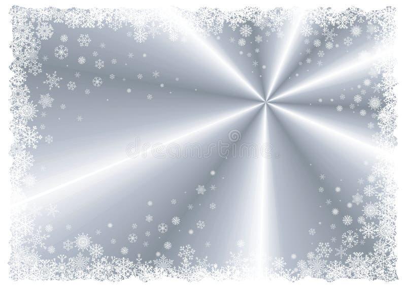 Frame de prata do inverno ilustração stock