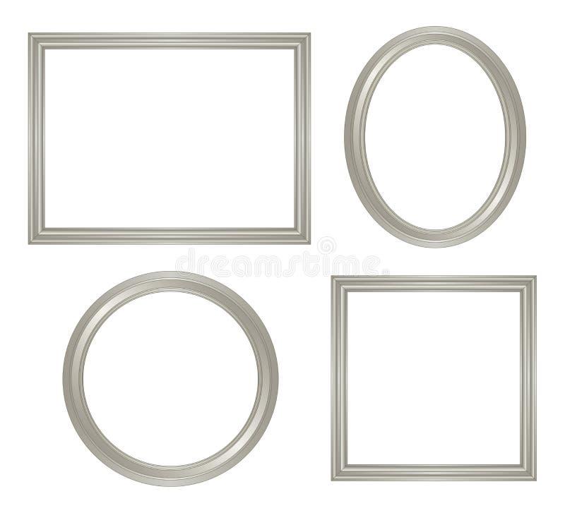 Frame de prata simples ilustração do vetor