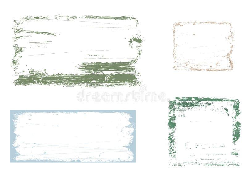 Frame de quatro grunge ilustração stock