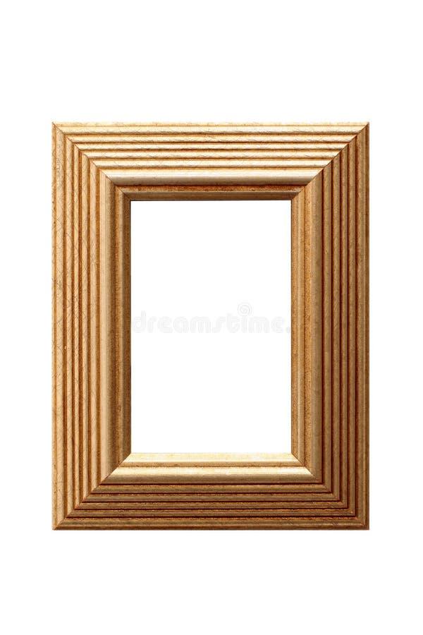 Frame de retrato 2 da folha de ouro imagens de stock royalty free