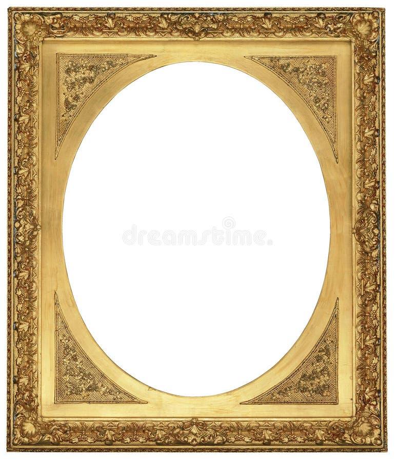 Frame de retrato antigo do ouro imagem de stock royalty free