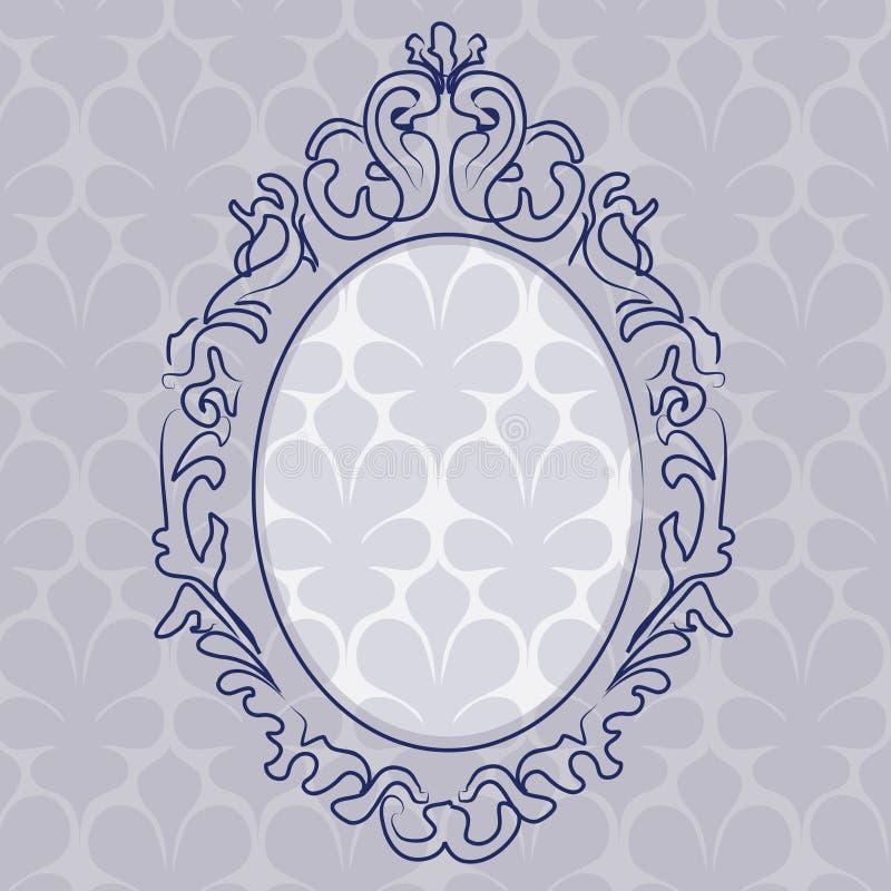 Frame de retrato azul ilustração royalty free
