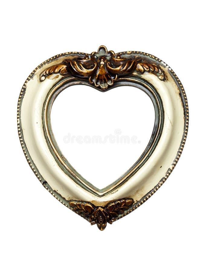 Frame de retrato barroco dado forma coração imagens de stock royalty free