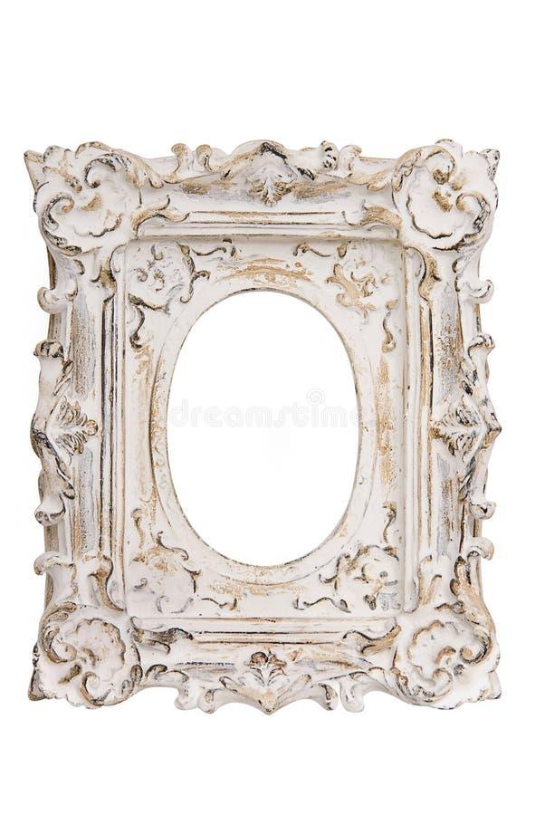 Frame de retrato branco imagens de stock royalty free